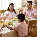 La oración por los alimentos puede causar bienestar personal