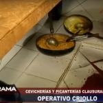 Pollerías chifas y cevicherias sorprendidas ante inspecciones sanitarias en Lima.